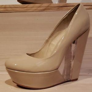 Aldo Nude Wedge Shoes